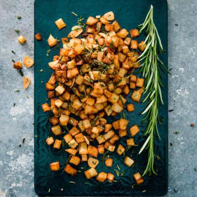 Sprødstegte kartofler