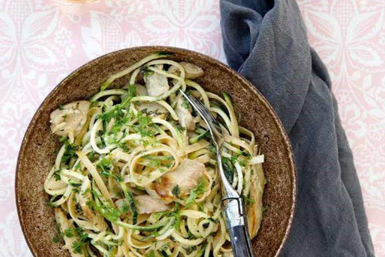 Spaghetti med svampe og trøffelolie